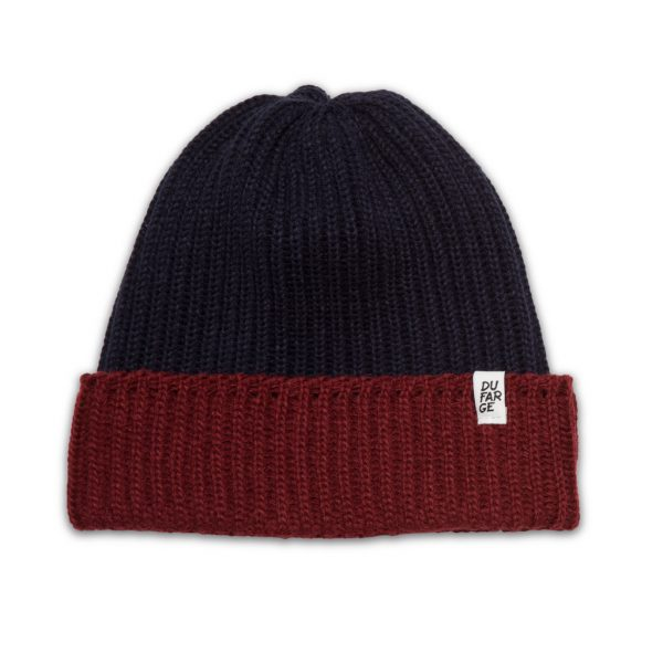 DUf-two-tone-beanie-darkred-darkblue